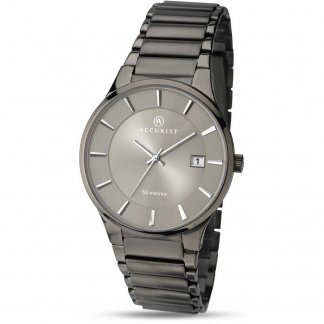 Men's Sleek Gunmetal Bracelet Watch
