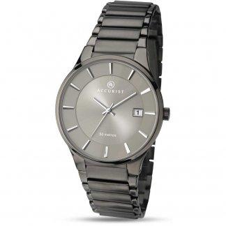Men's Sleek Gunmetal Bracelet Watch 7009