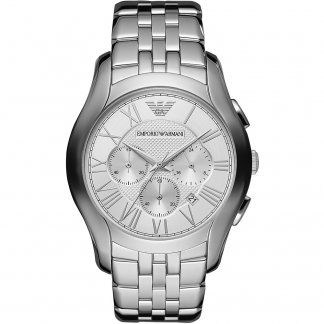 Men's Silver Tone Steel Chronograph Watch AR1702