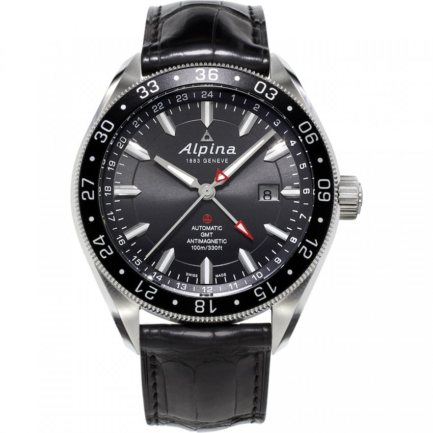 Alpina Men's Shock Resistant Alpiner 4 GMT Automatic Watch AL-550G5AQ6