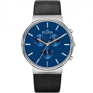 Men's Ancher Blue Dial Chronograph Watch
