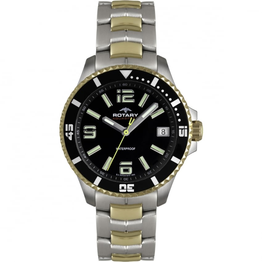 Men's Aquaspeed Two Tone Bracelet Watch AGB00076/W/04