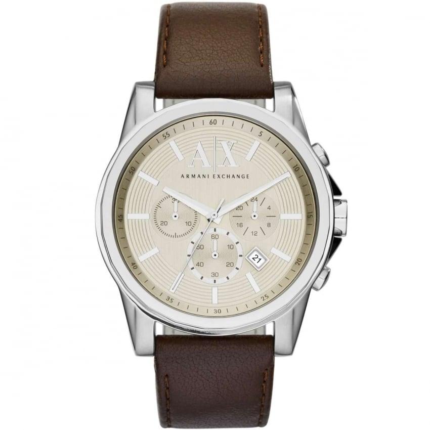 Armani Exchange Men's Brown Strap Chronograph Watch AX2506
