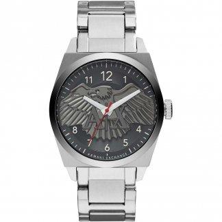 Men's Eagle Motif Dial Bracelet Watch AX2308