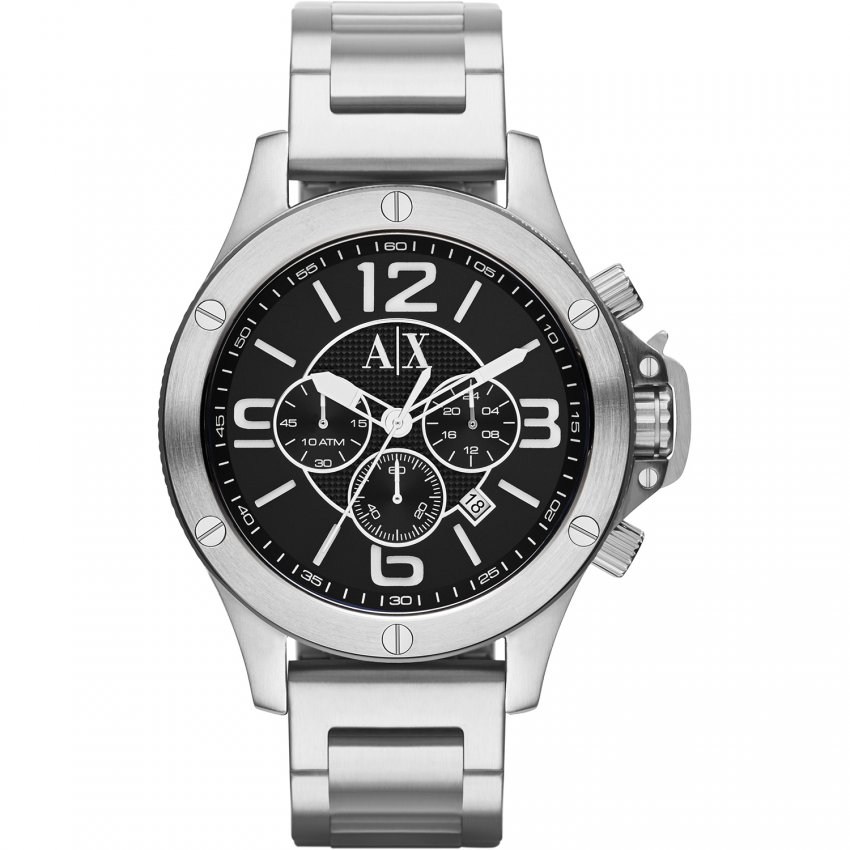 Armani Exchange Men's Steel Bracelet Chronograph Watch AX1501