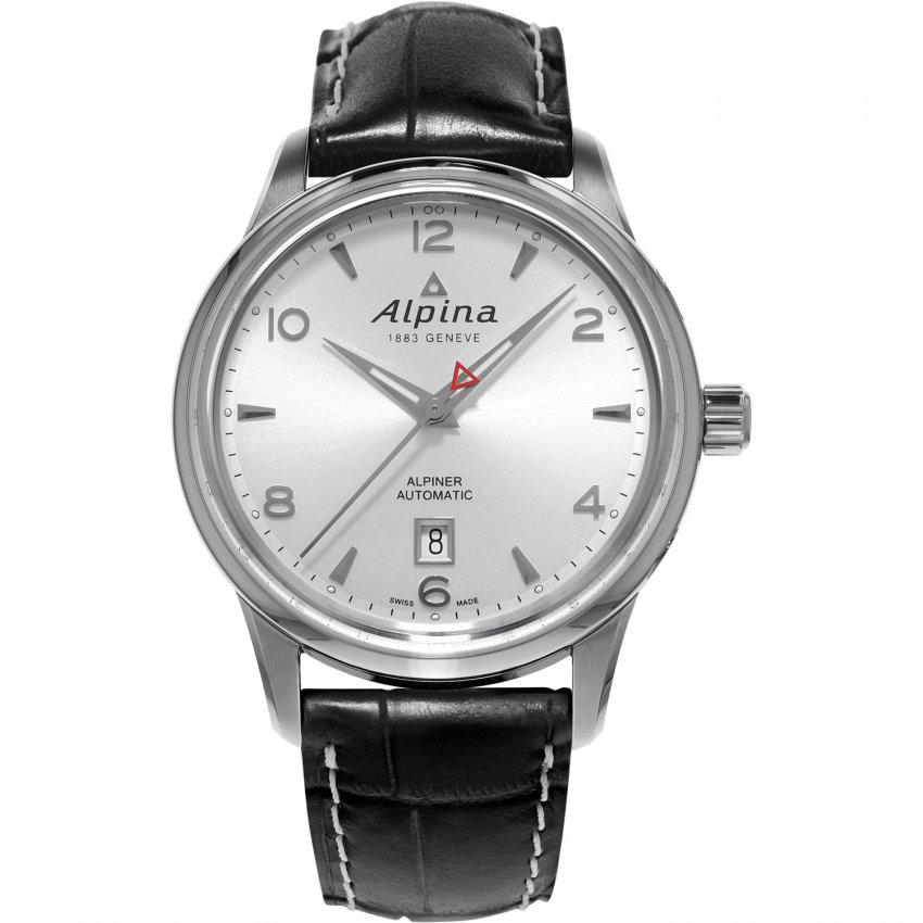 Alpina Men's  Automatic Leather Strap Alpiner Watch AL-525S4E6