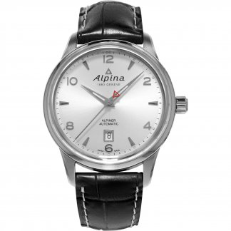 Men's  Automatic Leather Strap Alpiner Watch AL-525S4E6