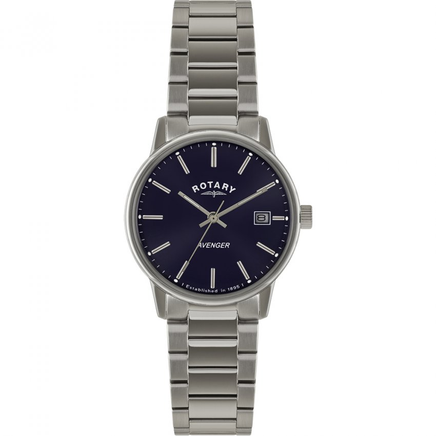 Rotary Men's Avenger Blue Dial Steel Bracelet Watch GB02874/05