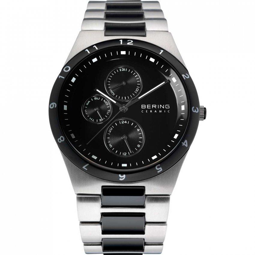 Bering Men's Black Ceramic & Steel Chronograph Watch 32339-742