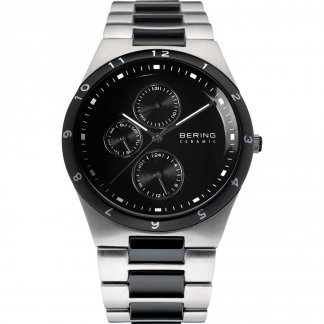 Men's Black Ceramic & Steel Chronograph Watch