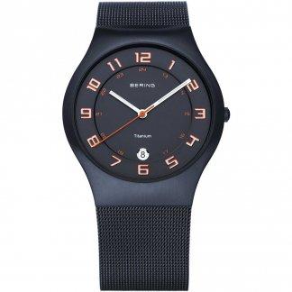 Men's Milanese Black Titanium Watch With Date 11937-393