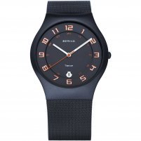 Bering Men's Milanese Black Titanium Watch With Date 11937-393