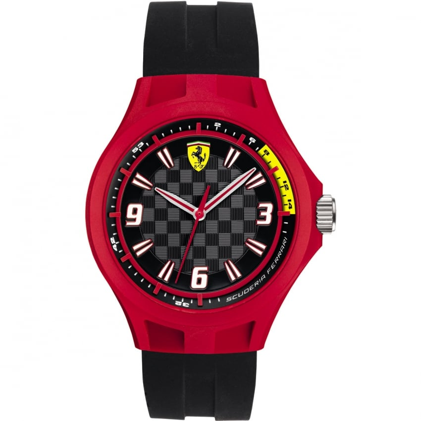 Men's Black and Red Pit Crew Watch 0830284