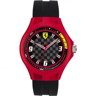 Men's Black and Red Pit Crew Watch