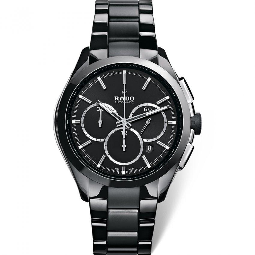 RADO Men's All Black HyperChrome Automatic Chronograph Watch R32275152