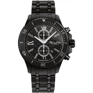 Men's Black Ceramic Rebel Chronograph Watch