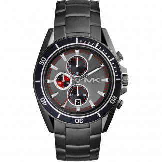 Men's Bradshaw Black PVD Steel Chronograph Watch MK8340