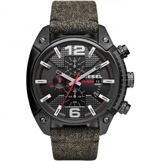 Men's Black Overflow Chronograph Fabric Strap Watch