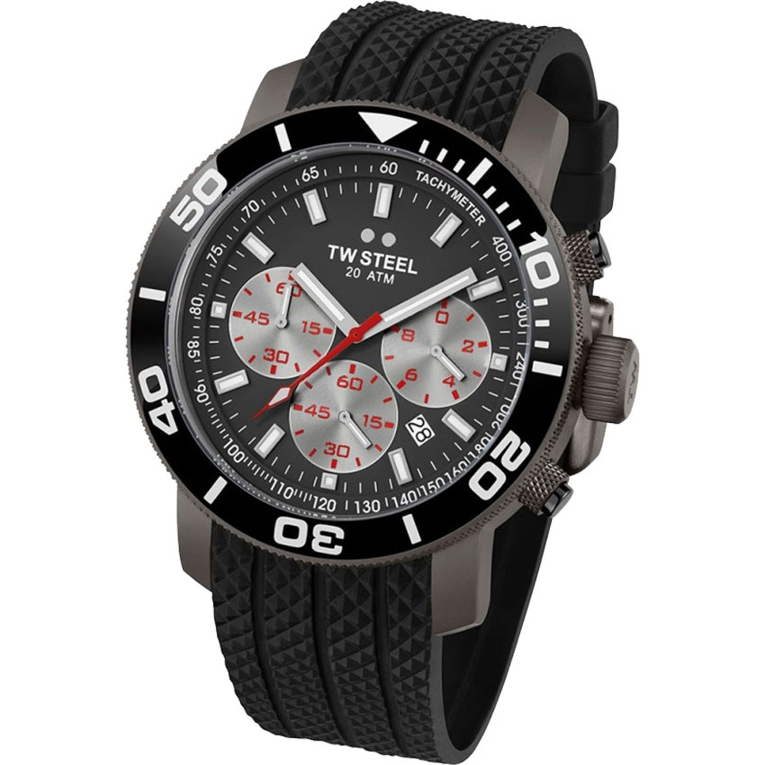 TW Steel Men's Black PVD 48MM Grandeur Diver Watch TW705