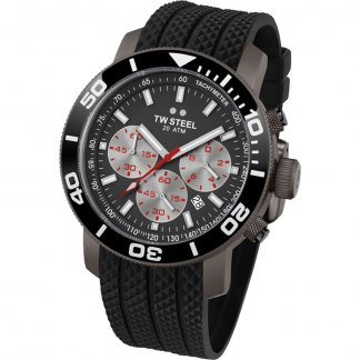 Men's Black PVD 48MM Grandeur Diver Watch TW705