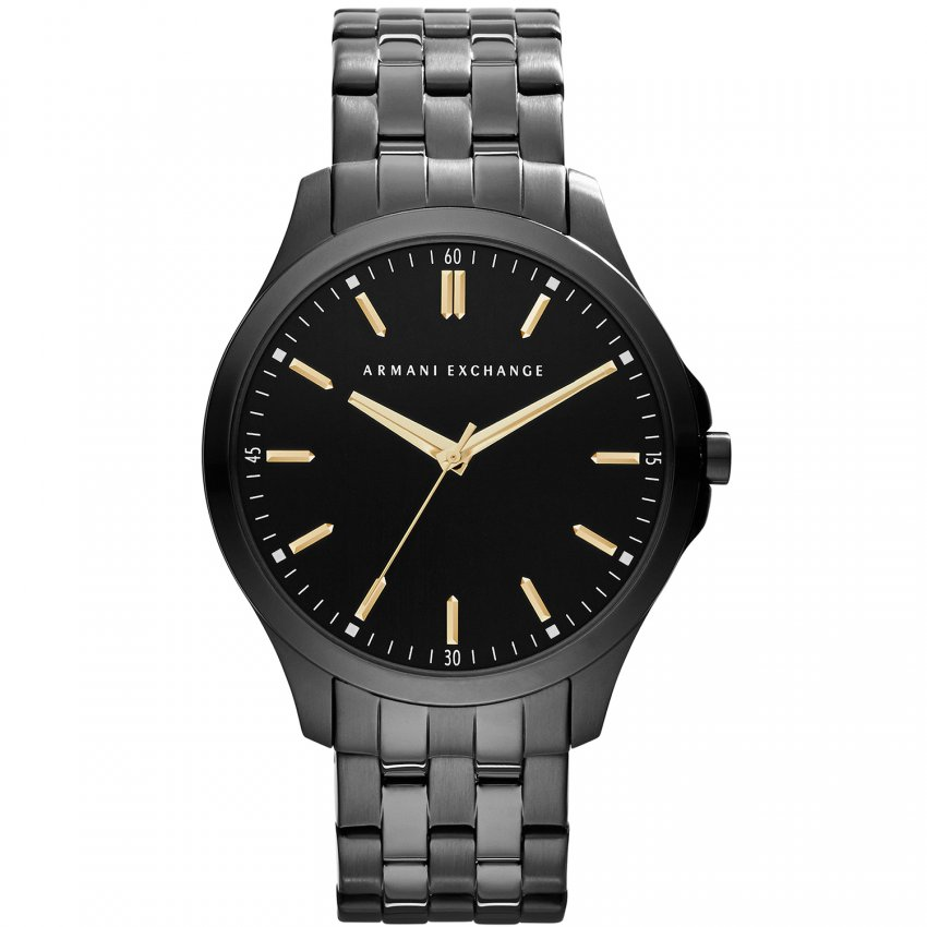 Armani Exchange Men's Black PVD Ultra Slim Bracelet Watch AX2144