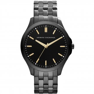 Men's Black PVD Ultra Slim Bracelet Watch AX2144