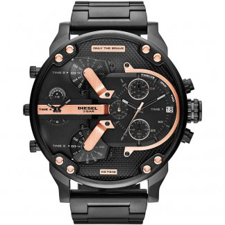 Men's Black & Rose Gold Daddy 2.0 Chrono Watch DZ7312
