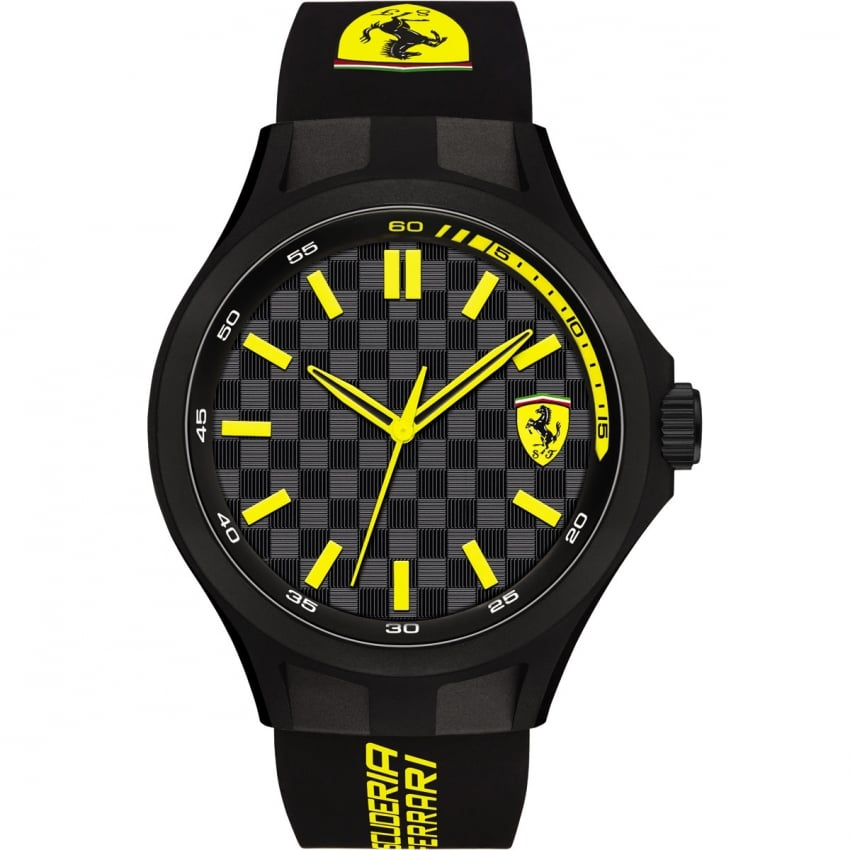 Men's Black Silicone Strap Pit Crew Watch 0830286