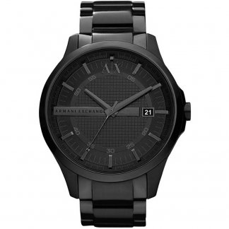 Men's Black Steel Bracelet Watch AX2104