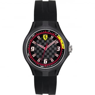 Men's Black Strap Pit Crew Watch