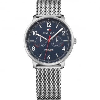 Men's Blue Dial Mesh Bracelet Will Watch