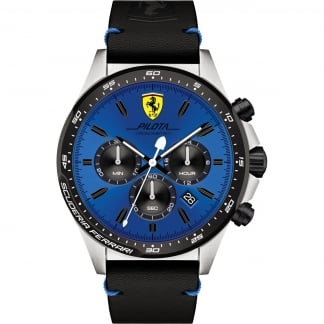 Men's Blue Dial Pilota Chronograph Watch