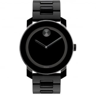 Men's Bold Black PVD Bracelet Watch