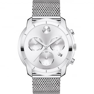 Men's Bold Mesh Chronograph Watch