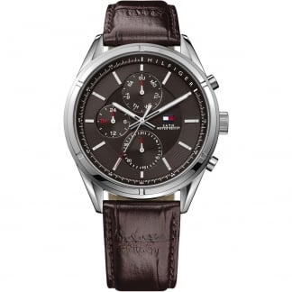 Men's Brown Leather Multifunction Charlie Watch