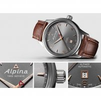 Alpina Men's Brown Leather Strap Automatic Alpiner Watch AL-525VG4E6