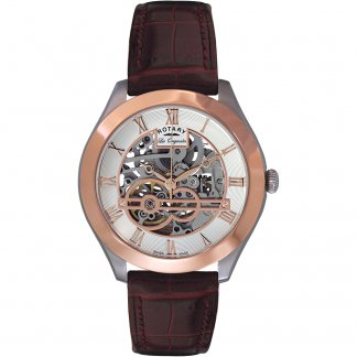 Men's Brown Strap Two Tone Jura Watch