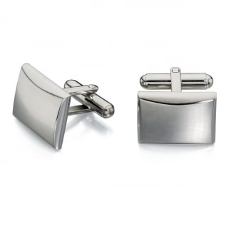 Men's Brushed and Polished Cufflinks