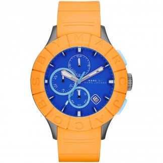 Men's Buzz Track Orange & Blue Chronograph Watch