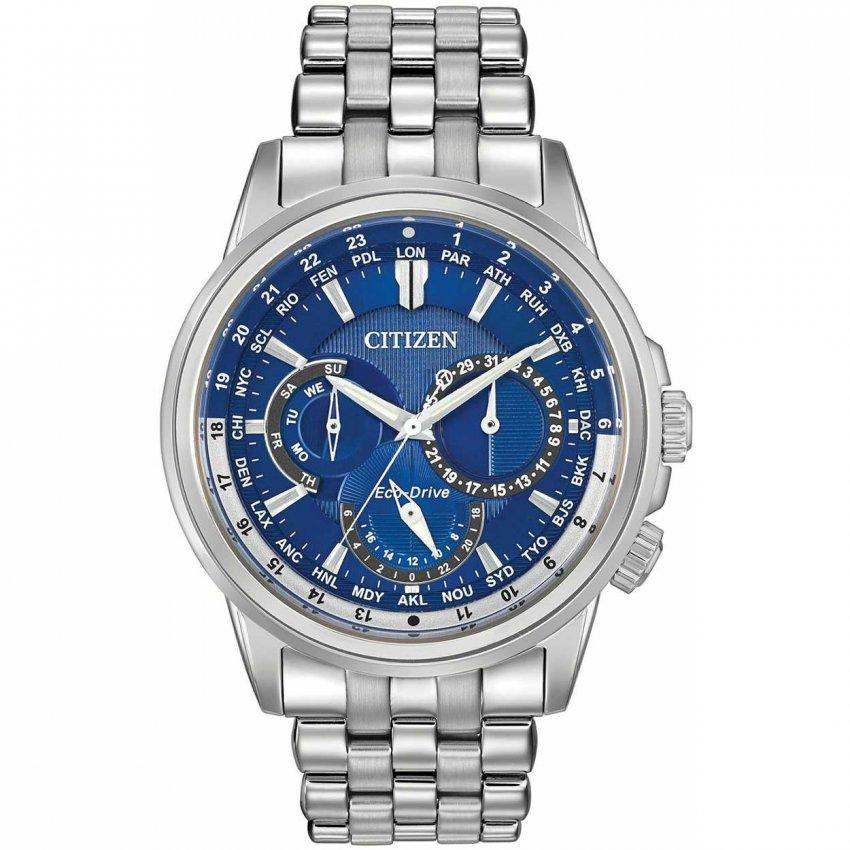 citizen men s calendrier blue dial multifunction chronograph watch citizen men s calendrier blue dial multifunction chronograph watch bu2021 51l