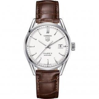 Men's Calibre 5 Brown Leather Automatic Watch