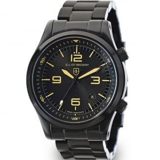 Men's Canford Black PVD Bracelet Swiss Quartz Watch