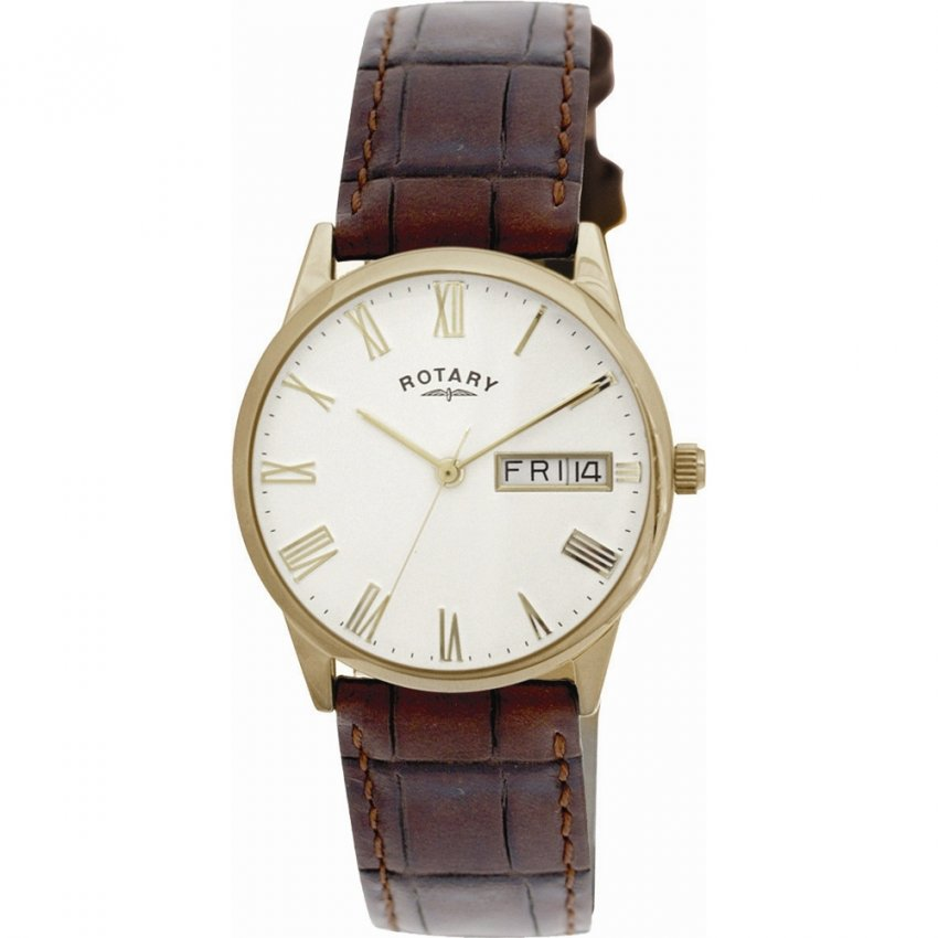 Rotary Men's Champagne Dial Dress Watch with Day/Date GS02324/32