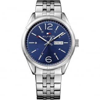 Men's Charlie Blue Day-Date Dial Bracelet Watch