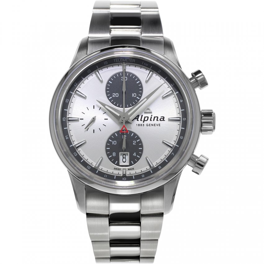 Alpina Men's Chronograph Alpiner Steel Bracelet Watch AL-750SG4E6B