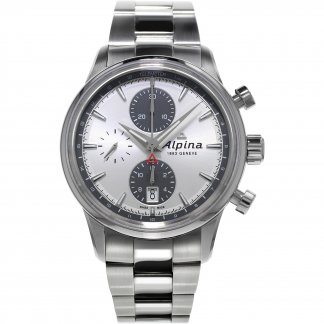 Men's Chronograph Alpiner Steel Bracelet Watch AL-750SG4E6B
