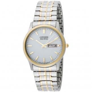 Men's Eco-Drive Two Tone Expansion Bracelet Watch BM8454-93A