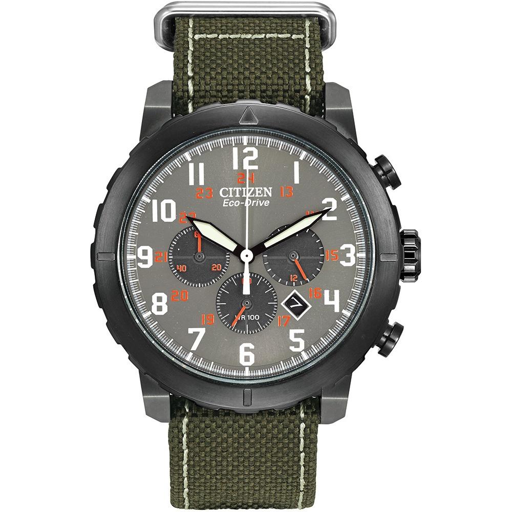 Citizen Men S Sport Chronograph Green Canvas Strap Watch