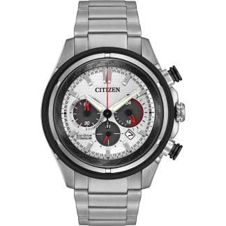Men's Super Titanium Chronograph Eco-Drive Watch CA4240-58A