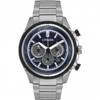 Men's Eco-Drive Super Titanium Chronograph Watch CA4240-82L
